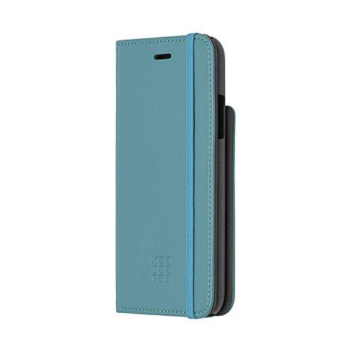 Moleskine Cover A Libro Classic Per Iphone X, Custodia Protettiva A Libro Per Smartphone Con Quaderno Journal Volant Xs Per Appunti, Colore Blu Reef