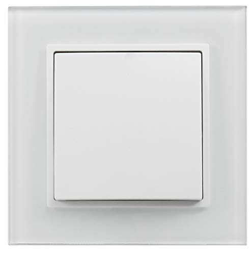 MC POWER 1535135 Juego de enchufes de pared, Blanco, Lichtschalter Style Profi