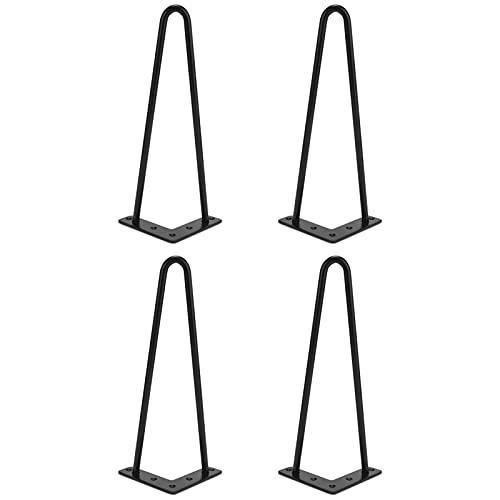 Patas para Mesa de Horquilla, 4 Piezas de Patas de Horquilla de Hierro para Mesa y Muebles, Patas de Escritorio de Mesa Accesorios para el Hogar para Muebles de Manualidades de Bricolaje(30 cm)