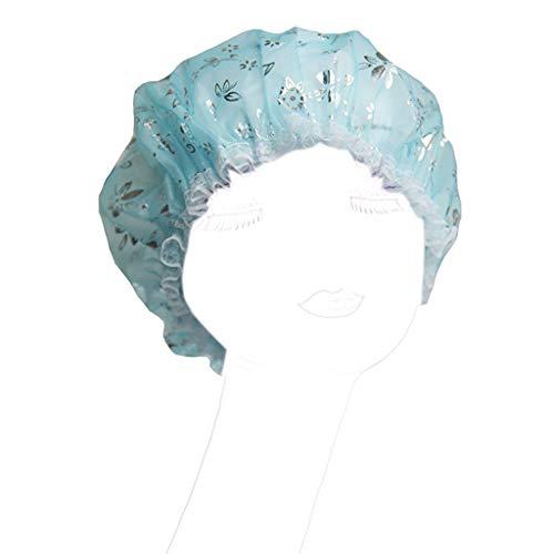A0127 - Gorro de ducha elástico para mujer, gorro de baño impermeable,...