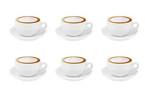 Luxpresso Cafe au Lait-/ Milchkaffeetassen Ella France Blanc, 6 Stück