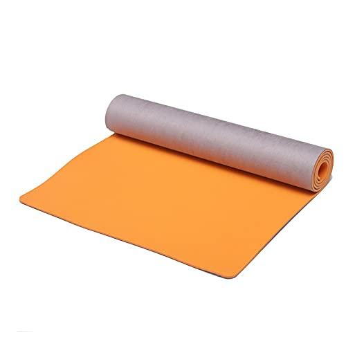 Mat de Yoga Corcho Compuesto, 72'x 24' Espesor de 0,3 Pulgadas de Piel de Ciervo Velvet Yoga Mat más Terciopelo de Terciopelo Bolster para el hogar Gimnasio Viajes y Suelo afuera
