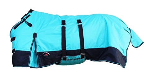 """CHALLENGER 78"""" 1200D Turnout Waterproof Horse Winter Blanket Heavy Belly Band 511B"""