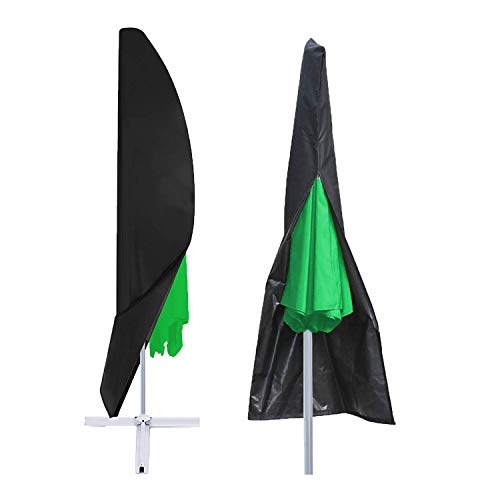 LEESITEC Tuin Parasol Cover, 210D Heavy Duty Waterdichte Oxford Cantilever Banaan Parasol Protector, Tuin Patio Zon Paraplu Cover zwart