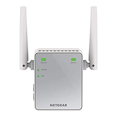 NETGEAR Wi-Fi Range Extender EX2700 - Coverage up to 600 sq.ft. and 10 devices with N300 Wireless Signal Booster and Repeater (up to 300Mbps speed), and Compact Wall Plug Design with UK Plug, Silver