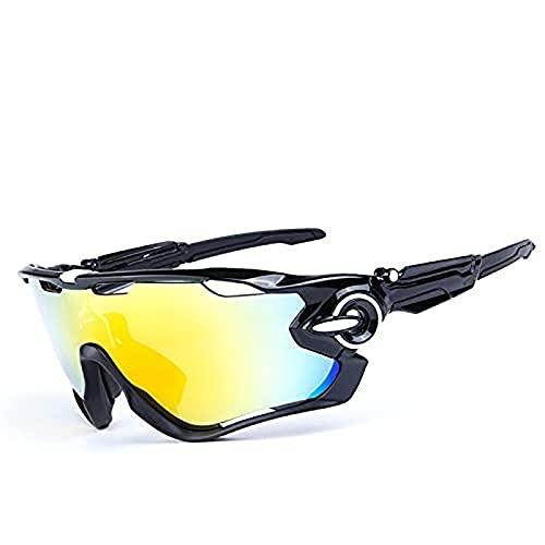 Portonss Gafas de Sol Deportivas polarizadas UV 400 No Baste Glasses Glasses Protectores Adecuados para Hombres y Mujeres Ejecutar Ciclismo Pesca de Golf