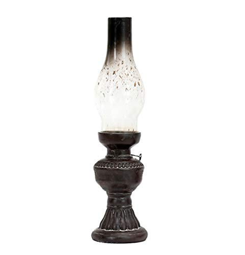 PRsellings Retro Vintage Kerosene Lampada Candela Resin Artigianato Ornamenti Casa Soggiorno Tavolo Tavolo Supporto Ordel 11X26Cm Come Mostrato