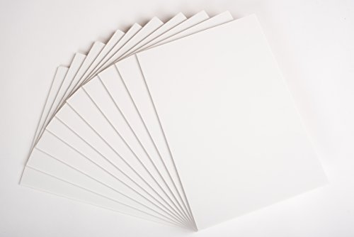 Foamboard/Schaumstoffplatte, A3, 5mm, Weiß, 10er-Pack