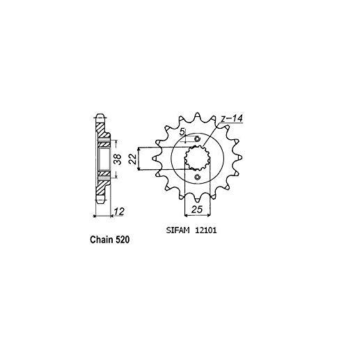 Esjot Pignon Ducati - 520-15 Dents - Made in Germany