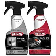Weiman Stainless Steel Cleaner & Cooktop Daily Cleaner - 12 Ounce - Kitchen Appliance Kit