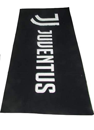 Casanov'è Telo Mare Piscina Bagno Ufficiale FC Juventus Nuovo Logo Micro Spugna 100% Cotone IDROFILO Salva-Spazio