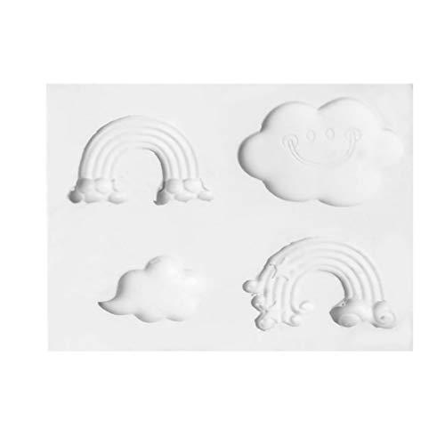 Artibetter 3D gâteau Moule Bricolage Silicone Arc en Ciel décoration de gâteau Outil de Cuisson pour la Cuisine à Domicile 1pc
