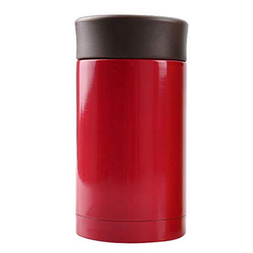 Thermal Coffee Travel Bottle, Mini Tumbler Thermos Mugs, Double-Walled Stainless Steel Vacuum Insulated Cup 8 Ounce / 250ml (Red)