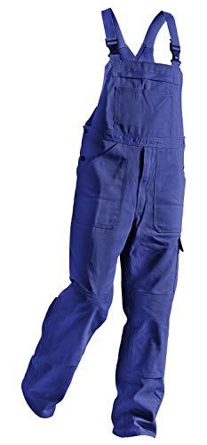 KÜBLER QUALITY DRESS Arbeitslatzhose blau, Größe 46, Herren-Arbeitslatzhose aus Baumwolle, Arbeitslatzhose mit Knieschutztaschen nach EN 14404, bequeme Arbeitslatzhose von KÜBLER Workwear