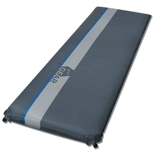 your GEAR ISO 1000 selbstaufblasbare Isomatte 200x63x10 cm wasserdichte Thermo-Matte Luftmatratze Luftbett