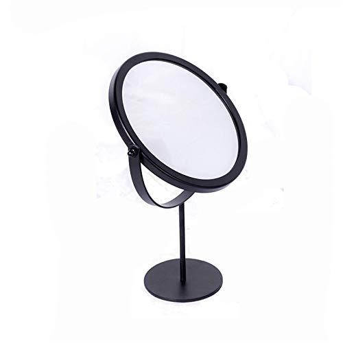 JJZI-L Espejo Redondo De Simplicidad, Espejo De Maquillaje De Viaje Portátil, Espejo Giratorio De 360 ° para Tocador, Espejo De Afeitar De Mano Multifunción(Size:27.5 * 19.5CM,Color:Segundo)