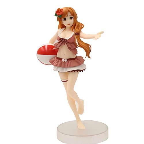 JGUSVYT Sword Art Online Figura Traje de Bano Teatral Mizuaki Asuna Yuuki Asuna Figura PVC Figura Modelo Decoracion 20Cm Decoracion Modelo Anime Juguete Estatuas en Caja