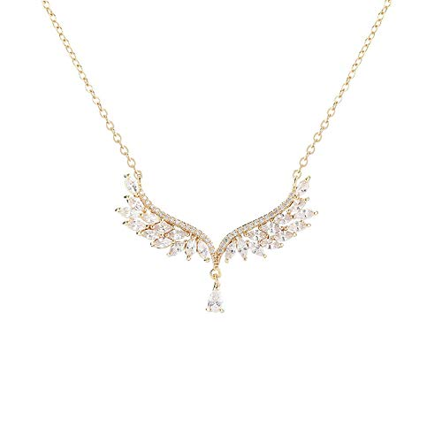 KKP Jewelry Swan Necklace Angel Wing Pendant Fashion Simple Clavicle Chain