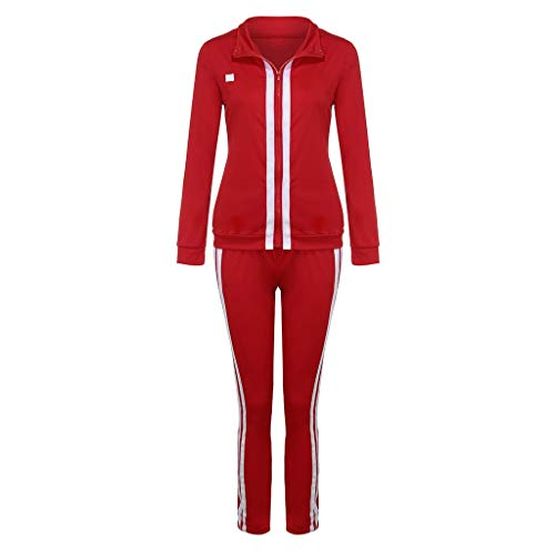 Best Review Of Simayixx Womens Two Pieces Sweatsuit Pullover Turtleneck Sports Set Long Pants Sports...