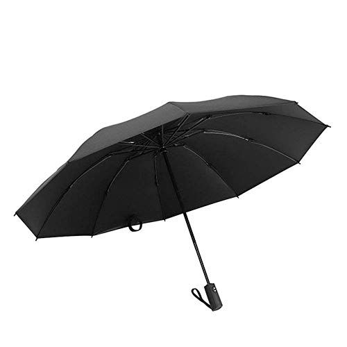 WYZQ Paraguas Paraguas Paraguas Plegable Paraguas Reversible Automático Paraguas de 10 Huesos A Prueba de Viento Compacto, Ligero y Conveniente, Equipaje
