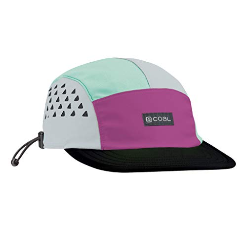 Coal Provo Tech Outdoor 5-Panel Cap - UPF Sun Protection for Cycling, Running, Hiking - Purple