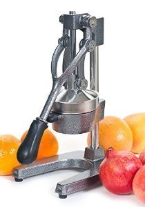Kitchen Kraft best pomegranate juicer has angular edges and looks very metallic and strong. It is grey in color.