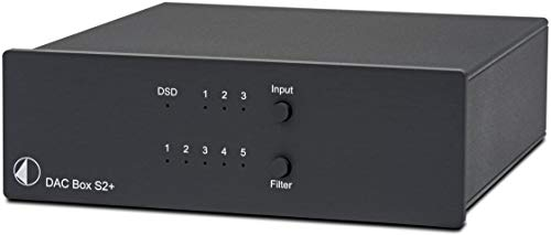 Pro-Ject Audio Systems DAC Box S2+, High End DAC mit 32bit und DSD256 Support (Schwarz)