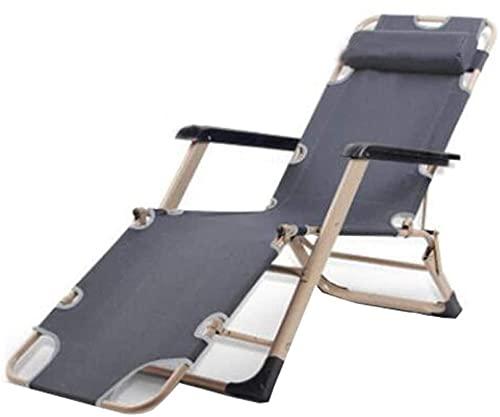 N/Z Campingausrüstung Liege Klappgarten Lounge Strand Sonne Mittagspause Sonnenbad Büro Schwangere Ältere Erwachsene Erwachsene Grau verbreitert (Farbe: Blau erweitern)