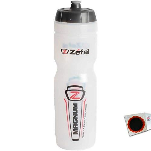 Zefal+TipTop ZÉFAL Trinkflasche 164 Magnum transparent ca. 130g 164A 3420581640018 +Flicken