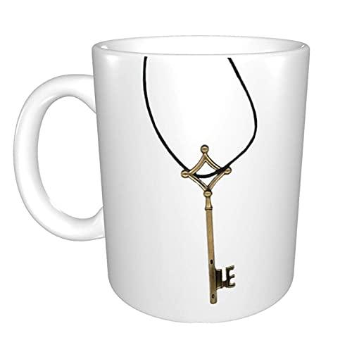 N\A Attack On Titan Eren 'S Key Taza de café de cerámica única y Divertida Taza de té de café de Oficina en casa para Regalo de Festival de Novedad