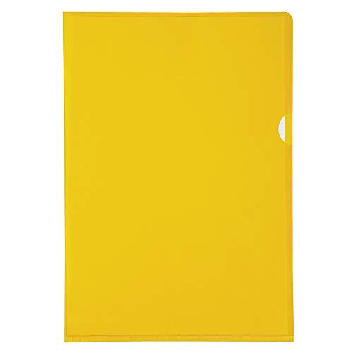 Exacompta 660535E - Bolsa de 10 dossiers en PVC, A4, color amarillo