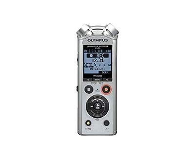 Olympus LS-P1 - Grabadora de Audio Digital de Alta Resolución con Micrófonos Estéreo Direccionales, Ligación USB, Cancelación de Ruido, Micrófono con Zoom, Modo Automático Inteligente y Memoria 4 GB
