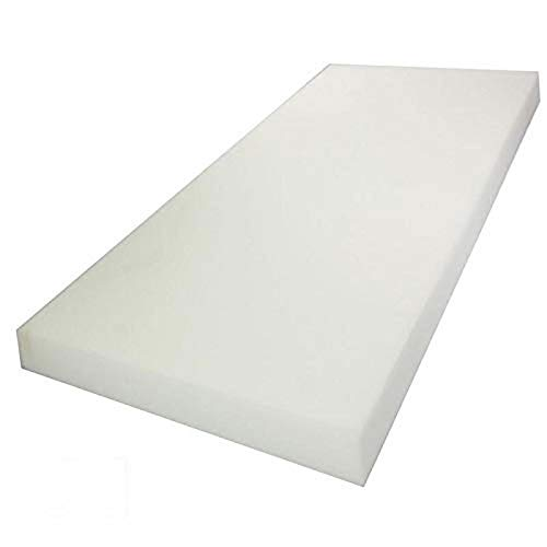 Mybecca 2H x 24W x 72L High Density Firm Upholstery Foam Sheet for Seat Replacement, Cross-Sectional Cushion Pad, Foam Padding, Boat Seat, Benches & Auto Car Seats