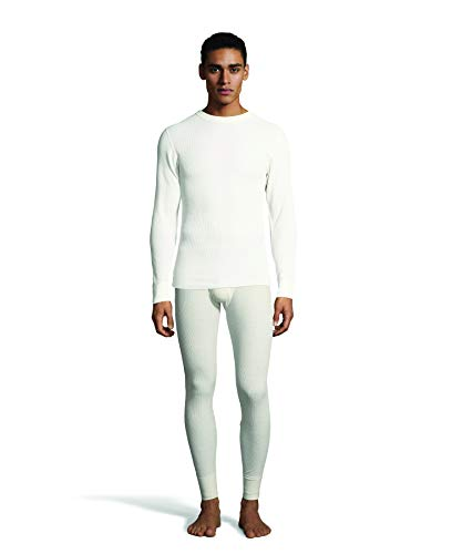 Hanes Men's Waffle Knit Thermal Crew Neck Long Sleeve T-Shirt with FreshIQ, X-Temp Technology & Organic Cotton