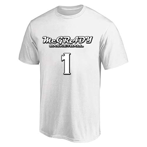 GAOZHENZHEN Hombre Manga Corta Cuello Redondo Camiseta Tracy McGrady # 1 Camiseta de Tirantes Basketball Lover Viene con una Gorra de béisbol Negra. (Color : White, Size : XXX-Large)