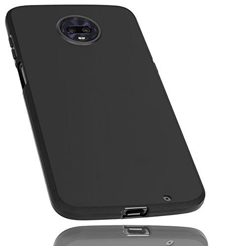 mumbi Hülle kompatibel mit Motorola Moto Z3 Play Handy Hülle Handyhülle, schwarz