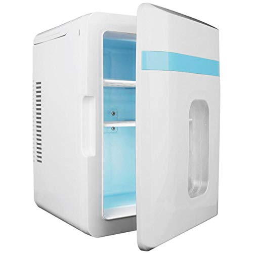 Mini refrigerador Mini de baja potencia para dormitorio, refrigerador portátil del automóvil para doble propósito caliente y frío, AC/DC / 12V / 220V-blanco_10L