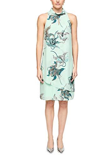 s.Oliver BLACK LABEL Damen 155.10.004.20.200.2013914 Kleid für besondere Anlässe, Aqua AOP, 44