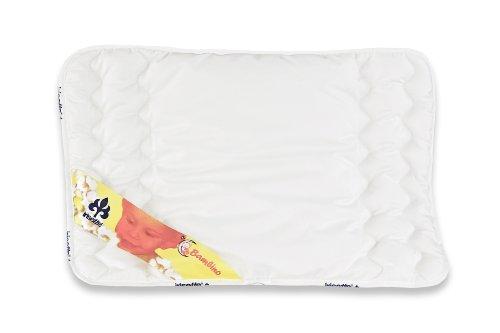 Badenia Bettcomfort Irisette Bambino Kinderflachkissen, 40 x 60 cm, weiß