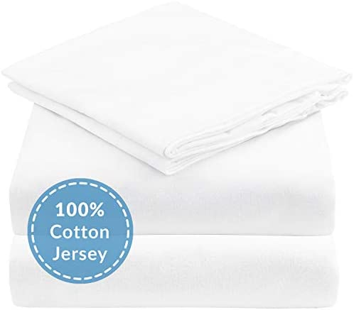 Mellanni Queen Jersey Sheet Set 4 pc Luxury 100 Cotton Bed Sheets Soft Comfortable All Season product image