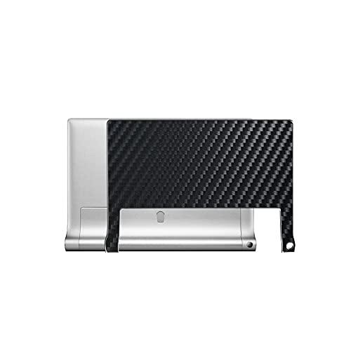 VacFun 2 Piezas Protector de pantalla Posterior, compatible con Lenovo Yoga Tablet 2 10 1050F 10.1', Película de Trasera de Fibra de carbono negra Skin Piel