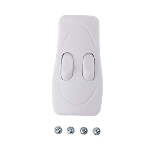 FengLi121 Interruptor de balancín en/Apagado Doble Interruptor de Control de CE de la lámpara Lámpara de pie Lámpara de Mesa Interruptor de botón de Dos vías (Color : White)