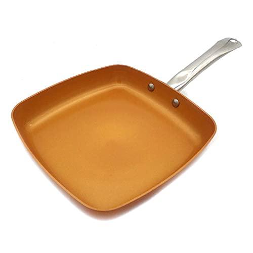 Yinyimei sarten Antiadherente Cacerola de Cobre Antiadherente con Recubrimiento cerámico e Cocina de inducción, Horno y lavavajillas