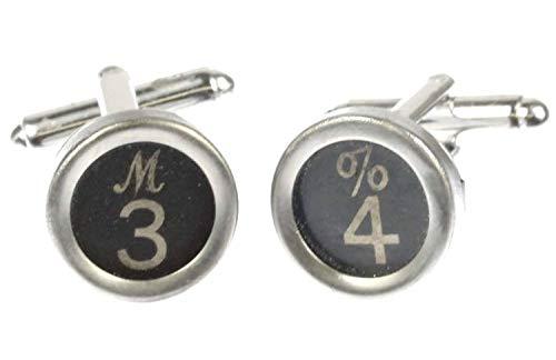 Miniblings Wunschzahl Manschettenknöpfe Schreibmaschinentasten Zahl schwarz 1+?, 2. Zahl:1