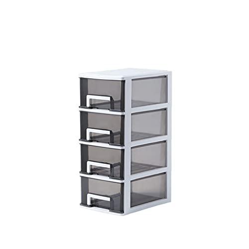 MIORIO Caja organizadora de Almacenamiento Tipo cajón de Escritorio Transparente, Suministros de Oficina para el hogar, Accesorios de Almacenamiento, Papelera de Almacenamiento