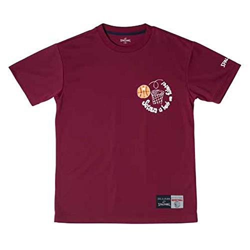 スポルディング バスケットボール メンズ プラクティスシャツ Tシャツ STORY SHOT SMT181220 WINE