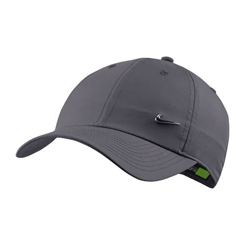 Nike Heritage 86 Metal Swoosh Cap (one Size, Grey/Silver, one_Size)