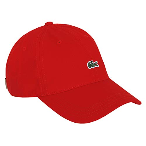 Lacoste Herren RK4714 Baseball Cap, Männer Schirmmütze,Baseball Mütze,Kappe,RED(240),One Size (TU)