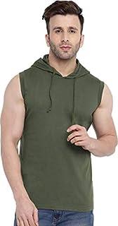 Aarcadian Men's Regular Fit Designer Solid Hood Neck Tshirt