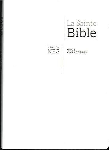Bible NEG gros caractères - Blanche, tranche or